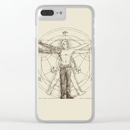 Vitruvian Alchemist Clear iPhone Case