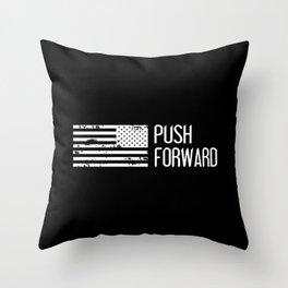 U.S. Military: Push Forward Throw Pillow