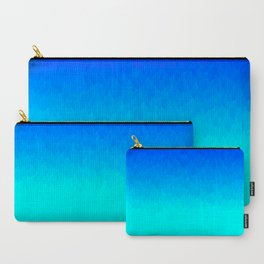 Electric Blue Ombre flames / Light Blue to Dark Blue Carry-All Pouch