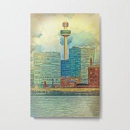 Albert Docks (Digital Art) Metal Print