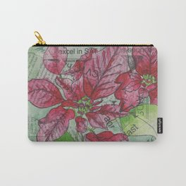 Poinsetta Collage Carry-All Pouch