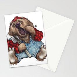 Sleepy LumberJack Bear Stationery Cards