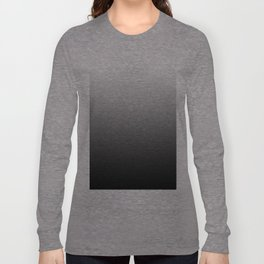 Black and White Gradient Long Sleeve T-shirt