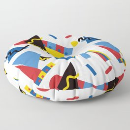 Postmodern Primary Color Party Decorations Floor Pillow