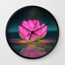 Floating Into Nothingness Wall Clock