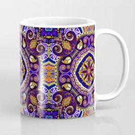 Boho Kaleidoscope Floral Pattern Var. 9 Coffee Mug
