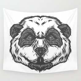 Brooding Panda Wall Tapestry