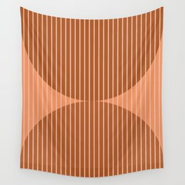 Abstraction Shapes 17 in Terracotta Shades (Moon Phase Abstract)  Wall Tapestry