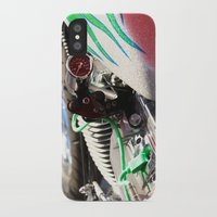 motorcycle iPhone & iPod Cases featuring Motorcycle by Carlo Toffolo