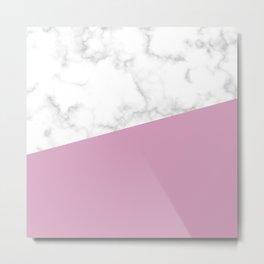 Marble and blush pink Metal Print