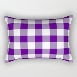 Gingham (Indigo/White) Rectangular Pillow