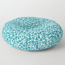 Turquoise Vintage Flowers Floor Pillow