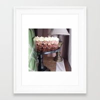 cake Framed Art Prints featuring Cake by Pistache and Rose