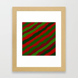 Red and Green Christmas Wrapping Paper Framed Art Print