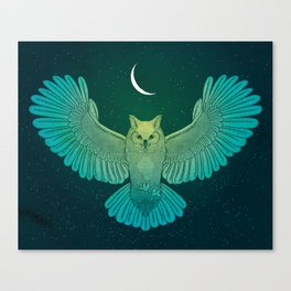 Cosmic Owl Spirit Guide Canvas Print