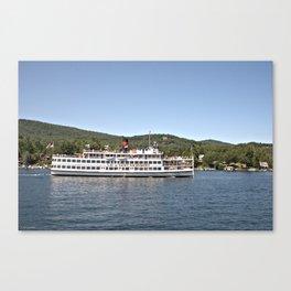 Lac du Saint Sacrement Steamboat Canvas Print