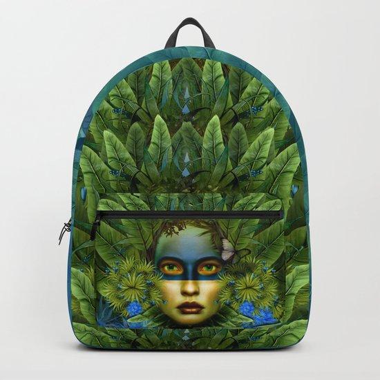 """Tropical green and indigo jungle Woman"" by marcanton"