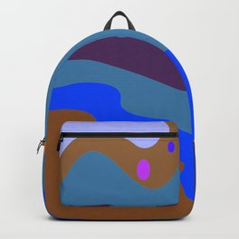 Design splash Blue Camu Backpack