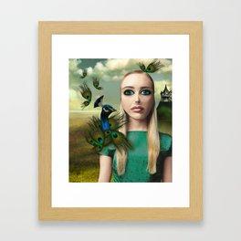 Lady Peacock Framed Art Print
