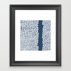 Missing Knit Navy Framed Art Print