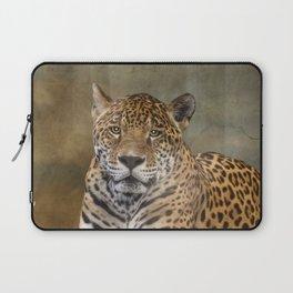Leopard Staredown Laptop Sleeve