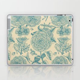 Garden Bliss - in teal & cream Laptop & iPad Skin