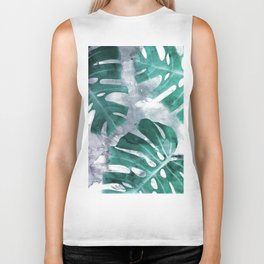 Monstera Theme 1 Biker Tank