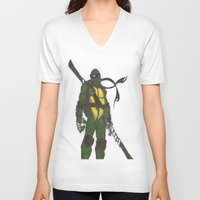 ninja turtles V-neck T-shirts featuring Ninja Turtles Donatello by minusblindfold