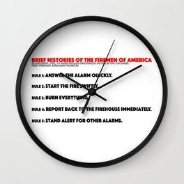 Firemen of America Wall Clock
