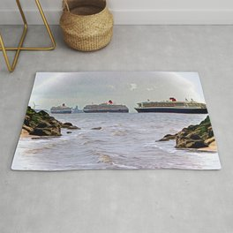 Three Queens on the River Rug