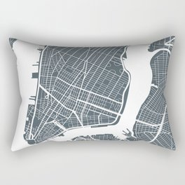 New York City map Rectangular Pillow