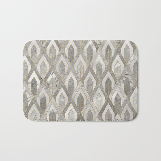 Art Deco Marble Pattern Bath Mat