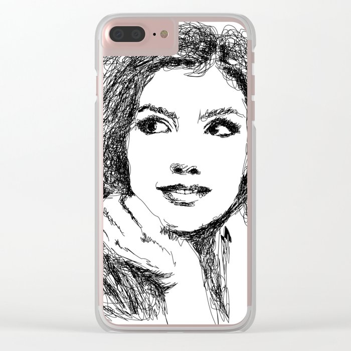 BEAUTIFUL WOMAN Clear iPhone Case