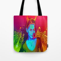 witchcraft Tote Bags featuring Witchcraft by ICARUSISMART