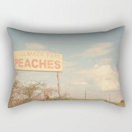 Texas Hill Country Peaches x Rustic Kitchen Art Rectangular Pillow