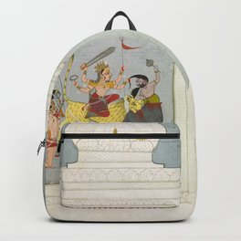 Thakur Ajit Singh Worships the Goddess Backpack