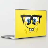 spongebob Laptop & iPad Skins featuring Spongebob Nerd Face by Cute Cute Cute