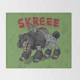 Parasite Poodle Throw Blanket