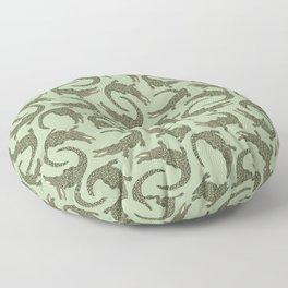 Crocodiles (Camo Palette) Floor Pillow