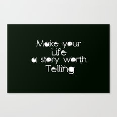Life Story Canvas Print