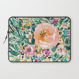 SMELLS LIKE LUSH MORNINGS Floral Watercolor Laptop Sleeve