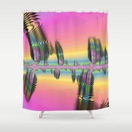 Andromeda Fractal Park Shower Curtain