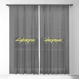 Cyberpunk 2077 Logo Sheer Curtain