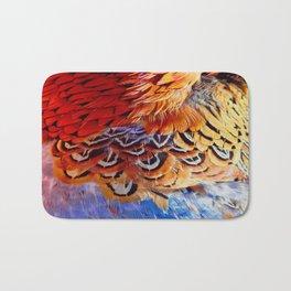 Pheasant Feathers Bath Mat
