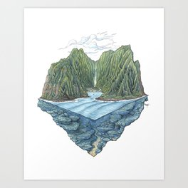 Mana Bay Art Print