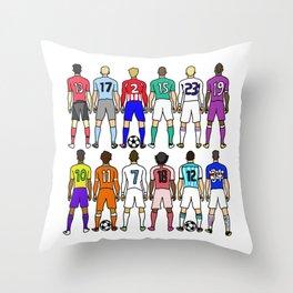 Soccer Backs Throw Pillow