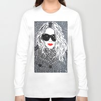 chic Long Sleeve T-shirts featuring CHIC by The Curly Whirl Girly.