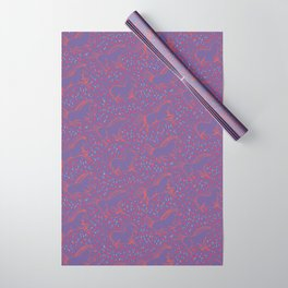 Wild Horses by Friztin - Ultra Violet Wrapping Paper