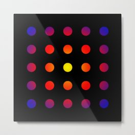 twentyfive dots o2 - soft Metal Print