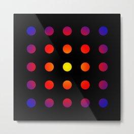 twentyfive dots o2 - soft Metal Print